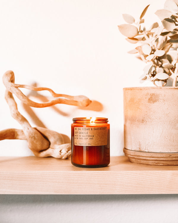P.F. Candle Co. Cedar & Sagebrush Soy Candle