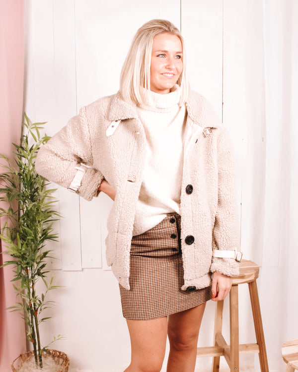 Paper Doll Sherpa Bomber Jacket Blaise Boutique