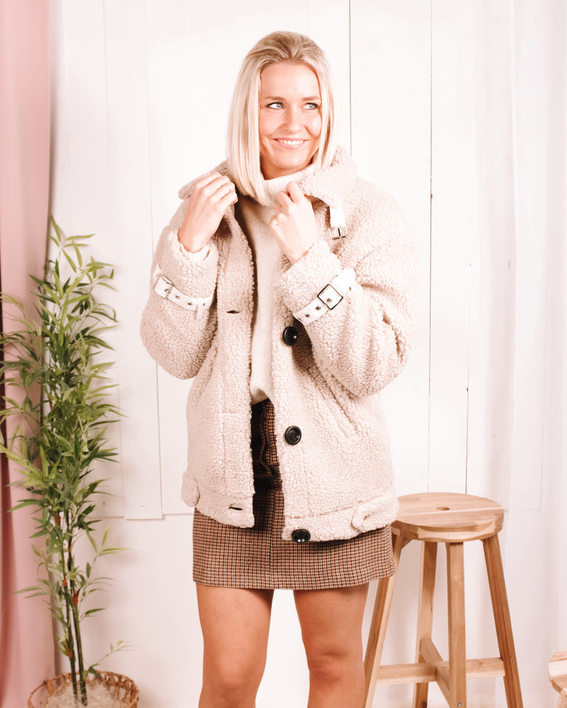 Paper Doll Sherpa Bomber Jacket