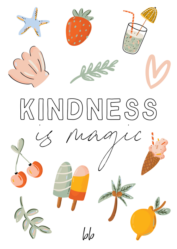Kindness is Magic Postcard
