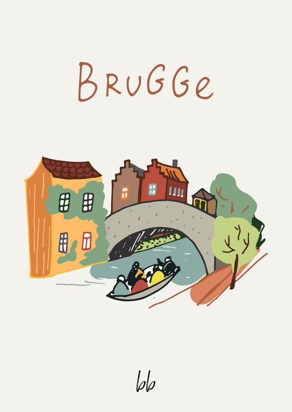 When in Bruges Postcard