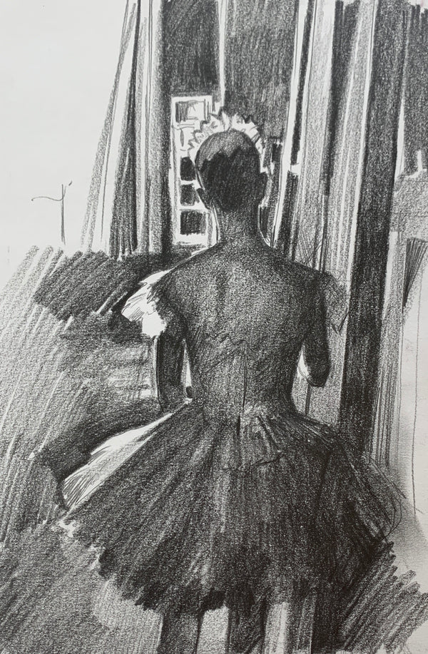 Backstage Study in pencil