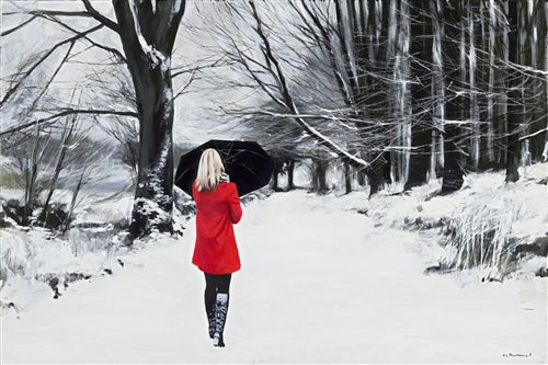 Red Coat on a Winter's Path