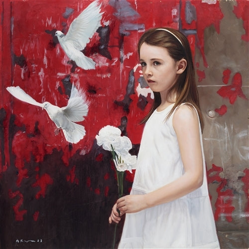 Girl with White Carnations