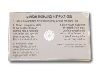 3 x 2 Star Flash Signal Mirror Standard