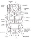 Harness Assembly, MA-2 Integrated Parachute Restraint - Belts & Harnesses - Life Support International, Inc.