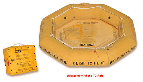 Life Raft (T2) ,Classic Rafts, Single Tube,  FAA Type II, 2-Man - Life Rafts - Life Support International, Inc.