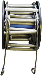 Cable Ladder, 30/45 Ft - Ladders & Ropes - Life Support International, Inc.