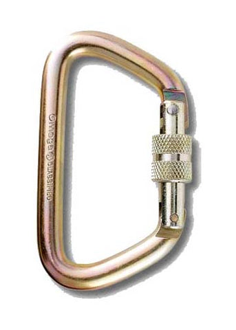 Carabiner, 1/2 inch Steel Large D Screw-Lok, NFPA - Hardware - Life Support International, Inc.