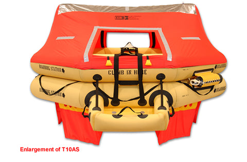 Life Raft (T10AS), FAA Type I, 10-Man - Life Rafts - Life Support International, Inc.