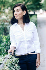 Photo of founder Nassie, in a park