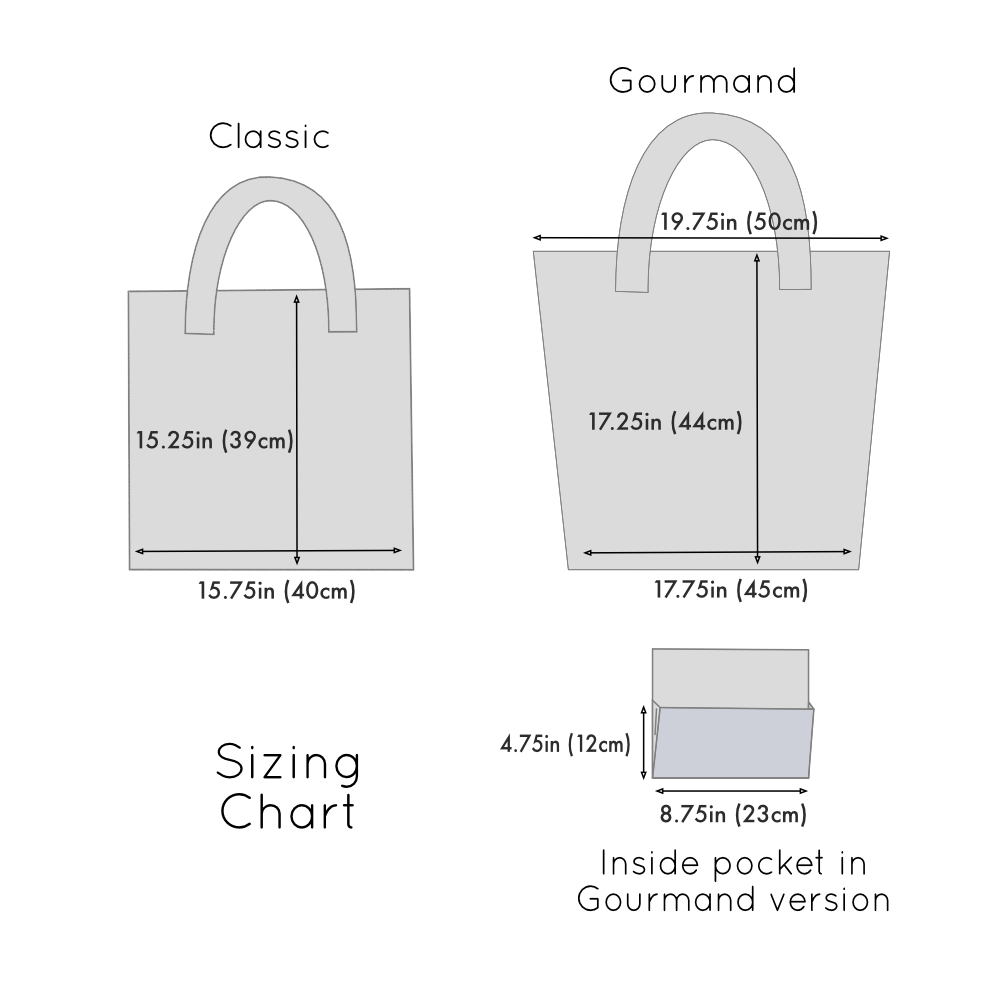 tote bag sizing