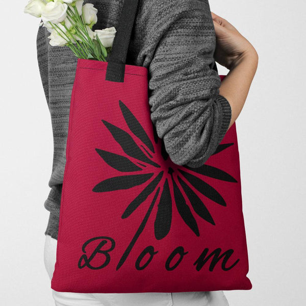 Bloom Bud Red Tote bag - Tote bag from Paris France