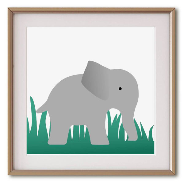 Little Grey Elephant  | Giclée Print - Poster from Ainsi Hardi Paris France