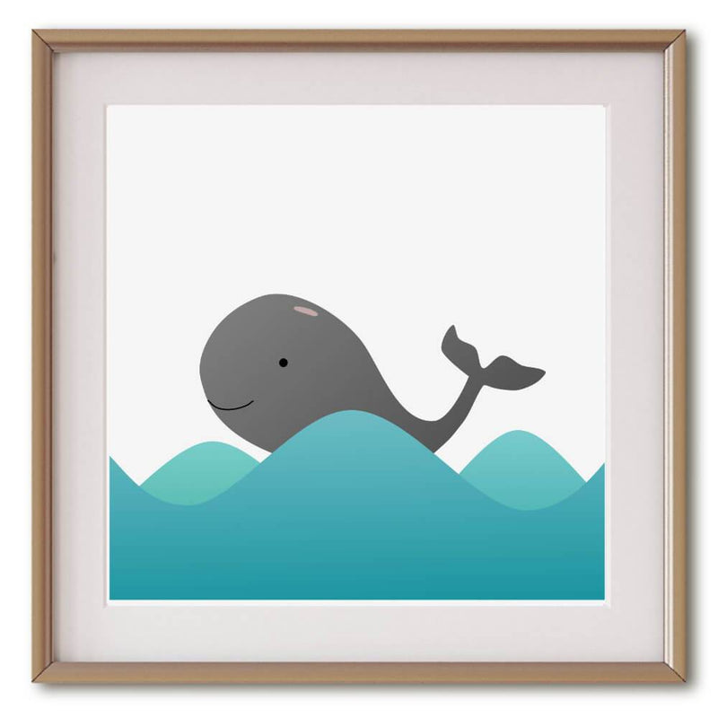 Little Grey Whale | Giclée Print - Poster from Ainsi Hardi Paris France