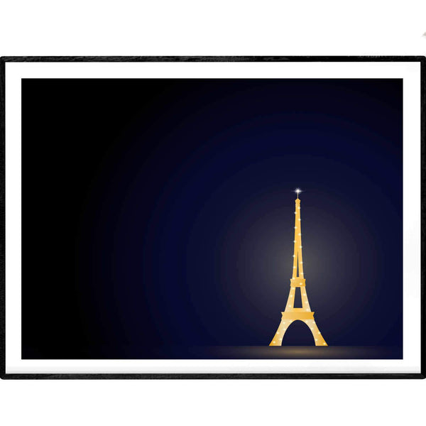 Glowing in the Night | Eiffel Tower Paris | Giclée Print - Poster from Ainsi Hardi Paris France