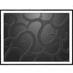 Ink Black Depths | Abstract Giclée Print - Poster from Ainsi Hardi Paris France