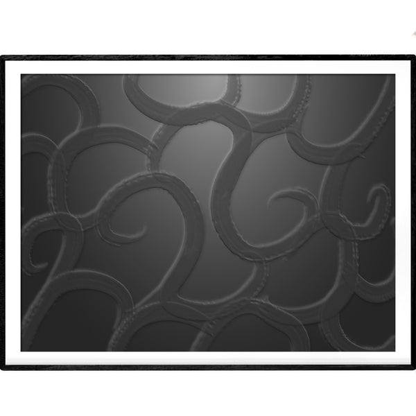 Ink Black Depths | Abstract Art Poster - Poster from Ainsi Hardi Paris France