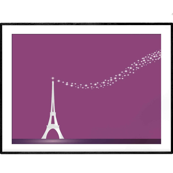 Stars in the Night | Eiffel Tower Paris | Art Print - Poster from Paris France