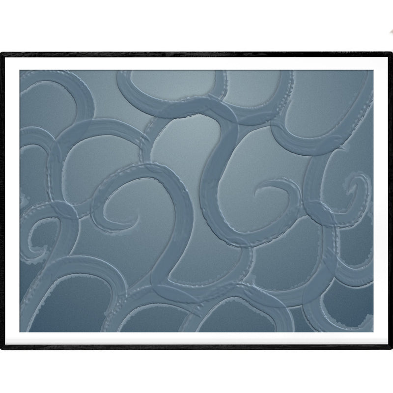 Sea blue waves | Abstract Art Poster - Poster from Ainsi Hardi Paris France