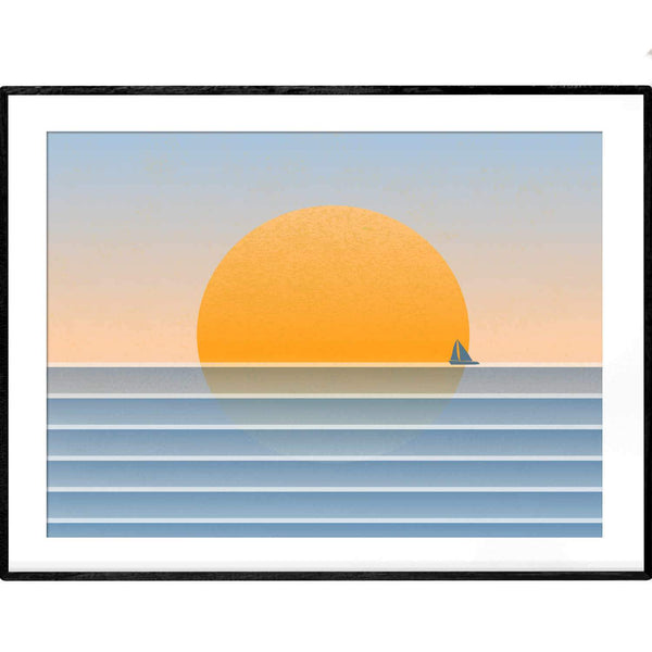 Sunset Regatta | Art Print - Poster from Ainsi Hardi Paris France