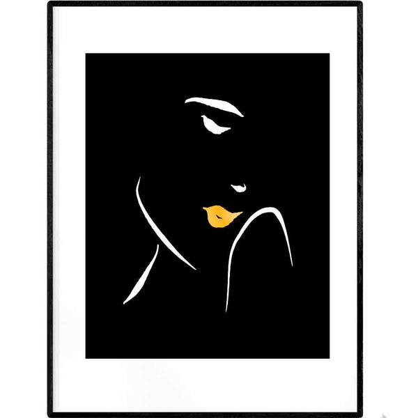 Shy in Waves | Black and White Art Print - Poster from Ainsi Hardi Paris France
