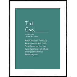Definition: Tati Cool | Poster - Poster from Paris France