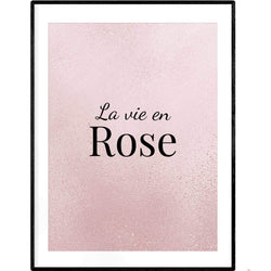 La Vie en Rose Pink | Typography Art Poster - Poster from Ainsi Hardi Paris France