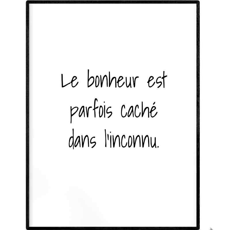 Hidden happiness | Printable Poster - Poster from Ainsi Hardi Paris France
