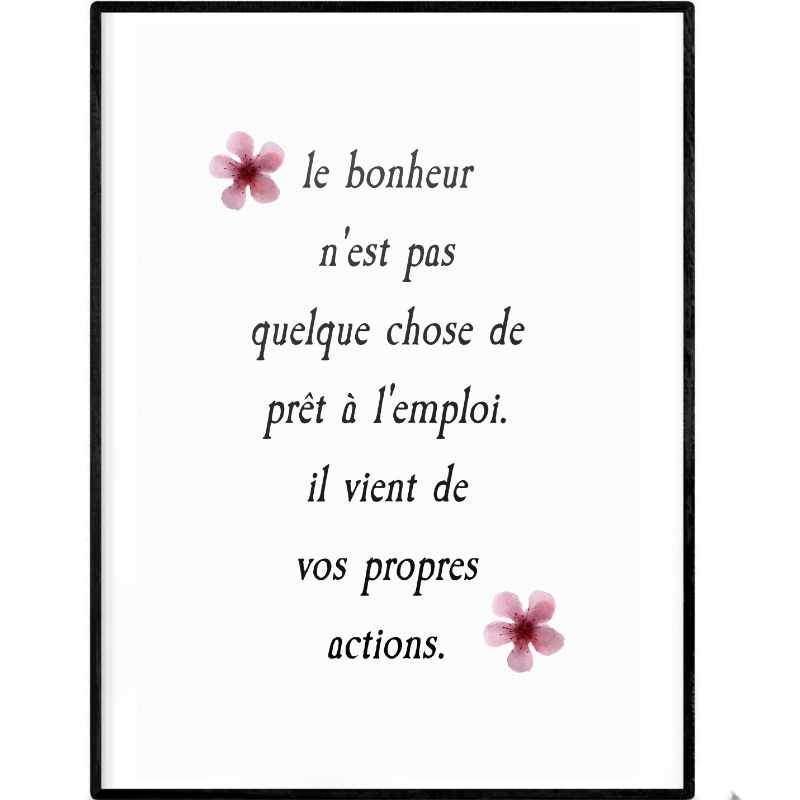 Finding happiness | Printable Poster - Poster from Ainsi Hardi Paris France