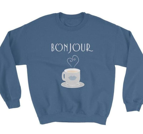 Bonjour Tea Parisian SkyBlue Sweatshirt - Women's Sweatshirt from Paris France