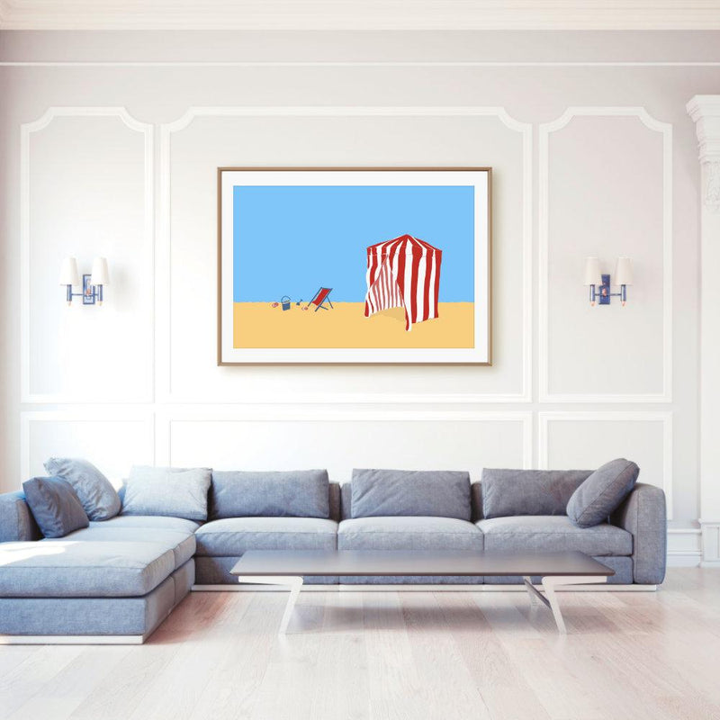 Deauville Beach Calling | Art Poster - Poster from Ainsi Hardi Paris France