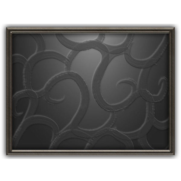 Ink Black Depths | Abstract Art Poster