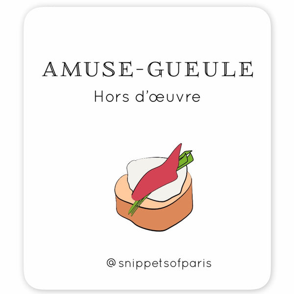 The French Menu - FREE French | English Flashcards - Printable from Paris France