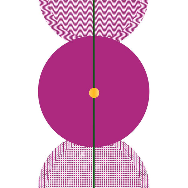 Glass Beads in Fushia | Giclée Print - Poster from Ainsi Hardi Paris France