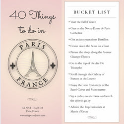 Bucket List of Things to do in Paris | Free Printable - Printable from Ainsi Hardi Paris France