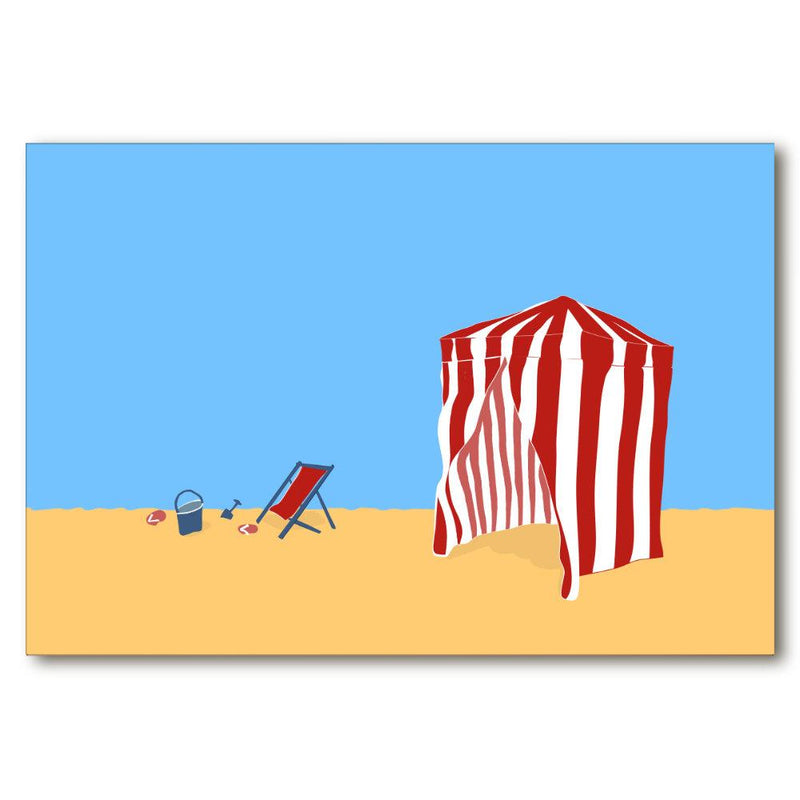 Deauville Beach Calling | Giclée Print - Poster from Ainsi Hardi Paris France