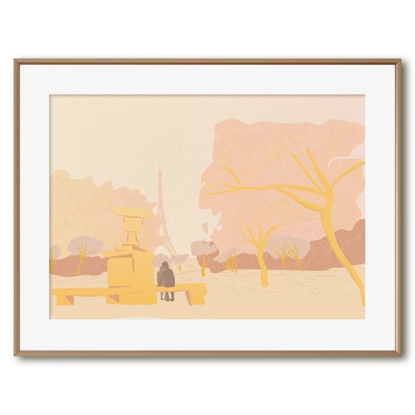 Shades of Gold in Champs de Mars | Giclée Print - Poster from Ainsi Hardi Paris France