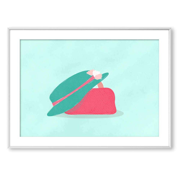 A Hat and A Bag | Art Poster - Poster from Ainsi Hardi Paris France