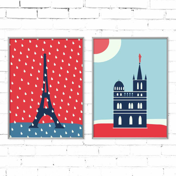 Eiffel Tower under the rain | Giclée Print