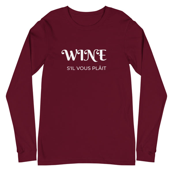 Wine Please | Women's Long Sleeve T-Shirt