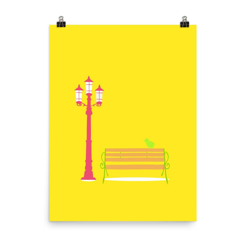 A Streetlamp in Sunshine | Giclée Print - Poster from Ainsi Hardi Paris France