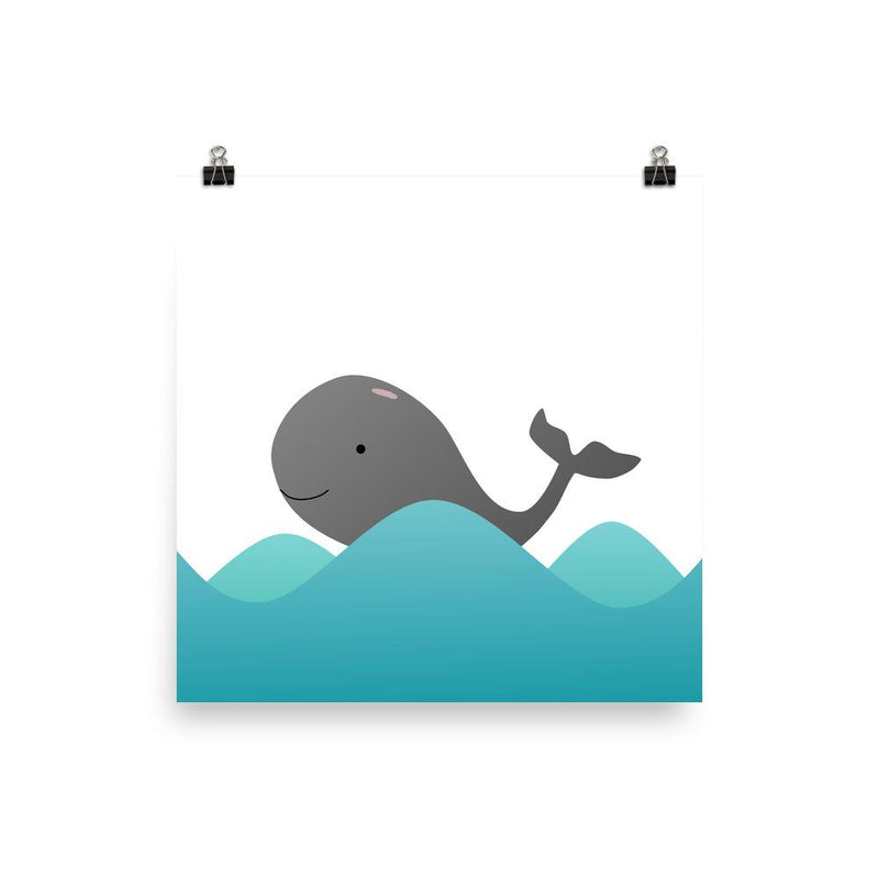 Little Grey Whale | Art Poster - Poster from Ainsi Hardi Paris France
