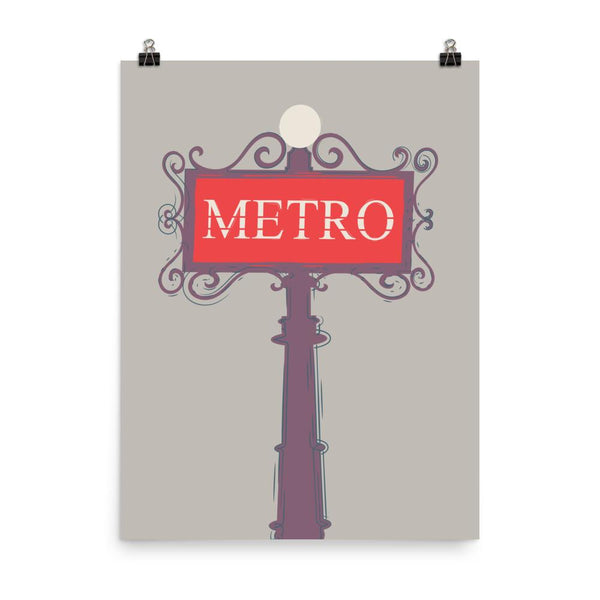 Metro Sign in Paris | Art Print