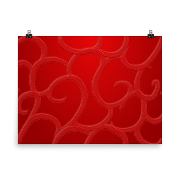 Blood Red Abstract Print | Giclée Art Poster - Poster from Ainsi Hardi Paris France
