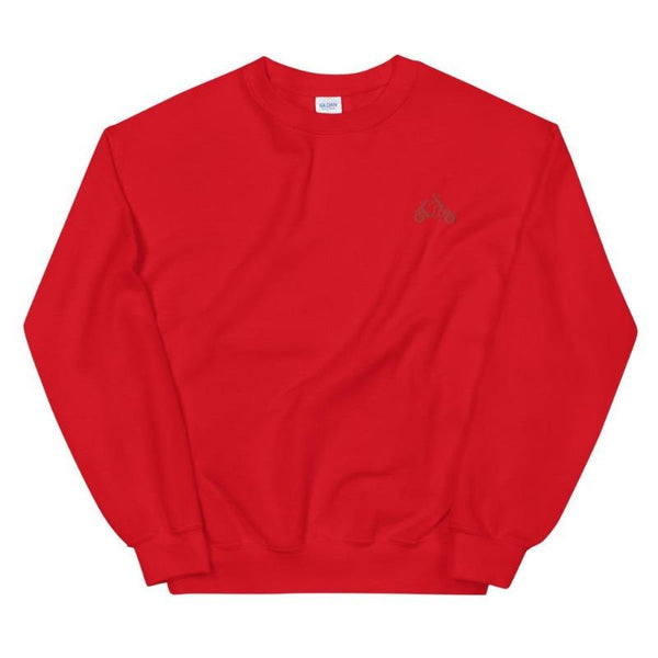 Red Embroidered Sweatshirt - Women's Sweatshirt from Ainsi Hardi Paris France