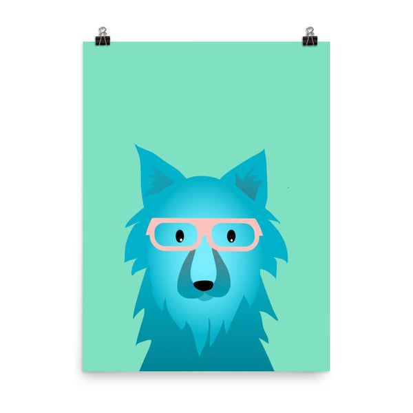 Thought in Wolf | Giclée Print - Poster from Ainsi Hardi Paris France