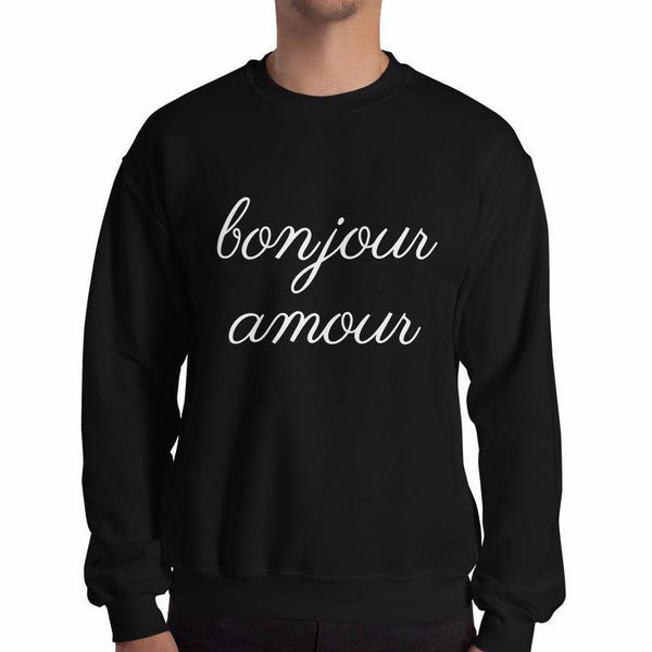 Bonjour Amour Sweatshirt - Men's Sweatshirt from Paris France