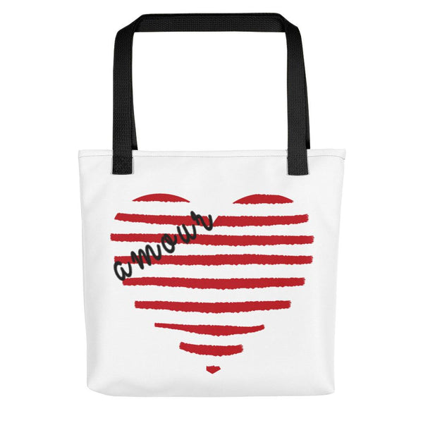 Striped heart | Tote bag - Tote bag from Ainsi Hardi Paris France
