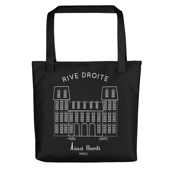 Paris Rive Droite Black Tote bag - Tote bag from Paris France